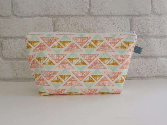 Geometric Pastel Cosmetic Bag