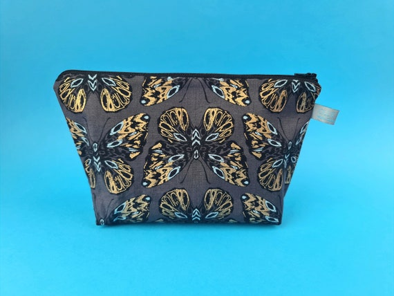 Metallic Butterfly Cosmetic Bag / Makeup Bag / Wet Bag