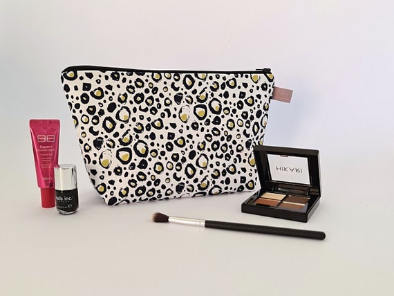 Metallic Animal Print Cosmetic Bag / Makeup Bag / Wet Bag
