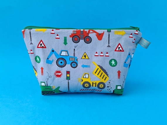 Construction Vehicles Wash Bag  / Toiletry Bag