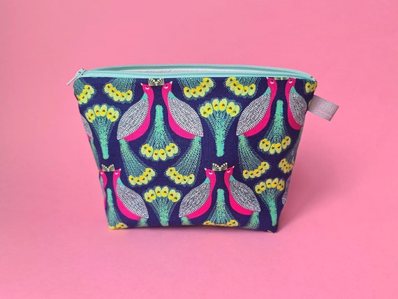 Peacock Cosmetic Bag Makeup Bag / Wet Bag