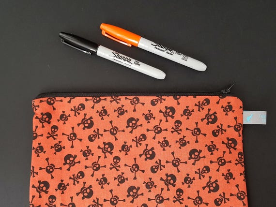 Skull and Crossbone Pencil Case
