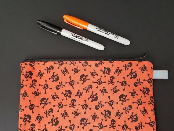 Skull and Crossbone Pencil Case