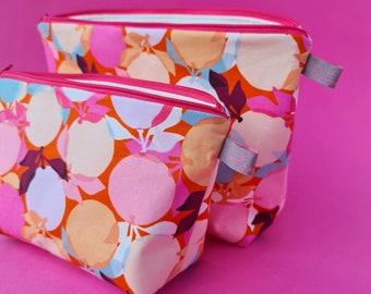 Clementine print Cosmetic Bag / Makeup Bag / Wet Bag