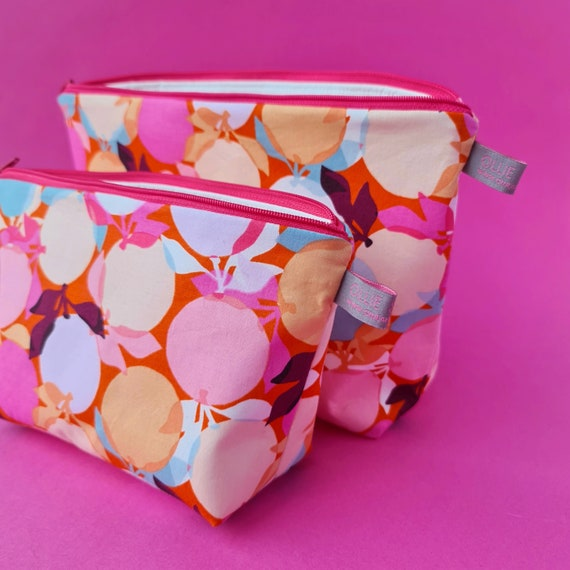 Clementine print Cosmetic Bag / Makeup Bag / Wet Bag
