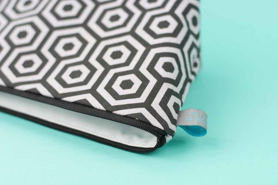 Hexagon print Mini Makeup Bag / Cosmetic Bag