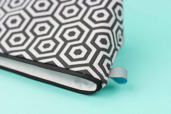 Hexagon print Mini Makeup Bag / Cosmetic Bag