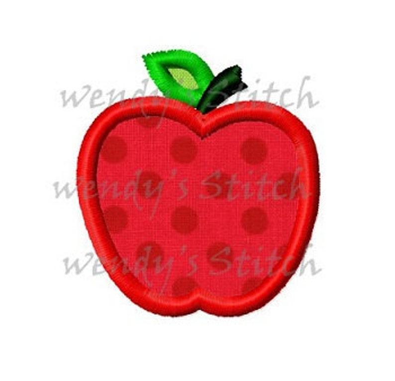 Mini Apple Applique Machine Embroidery Design Digital Pattern Etsy