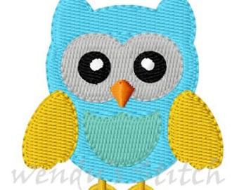 Mini owl machine embroidery design