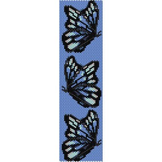 Instant Digital Download bookmarks little panels for bracelets Even Peyote Pattern SANTA WITH SLEDGE