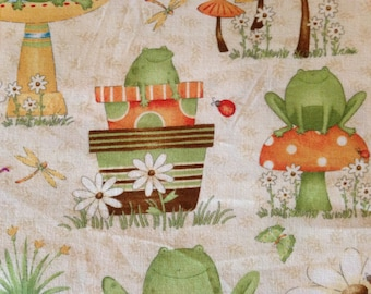 HIP HOP GARDEN by Debbie Mumm - Fabric - South Sea Imports - Toads - Pots - Daisies - Quilting - Sewing - Butterflies - Garden
