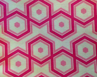 NOTTING HILL by Joel Dewberry - Fabric - Hexagons in Magenta -  Quilting - Sewing - Home Decor - Crafting - Floral - Geometric Design