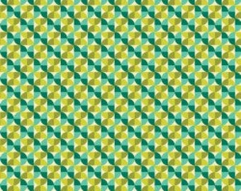 NOTTING HILL by Joel Dewberry - Fabric - Hourglass in Aquamarine -  Quilting - Sewing - Home Decor - Crafting -
