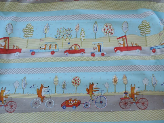 Fox Playground By Dena Designs Fabric Fox Transportation Etsy