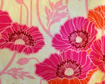 NOTTING HILL by Joel Dewberry - Fabric - Pristine Poppy in Magenta - Quilting - Sewing - Home Decor - Crafting - Floral - Poppies - Flowers