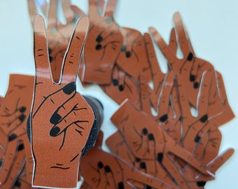 Sticker - Peace Black Woman Hand - POC - Decal - Vinyl