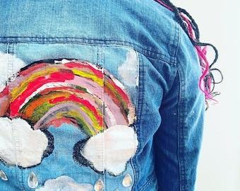 Adult Denim Jacket - Handpainted Custom OOAK