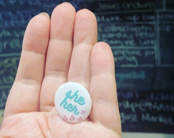 Pronoun Buttons - All Pronouns Available Pins Badge Button