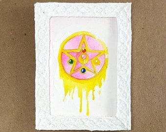 Sailor Moon Melting Brooch: Miniature Framed Painting