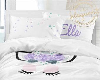 Unicorn Bedding Set Etsy