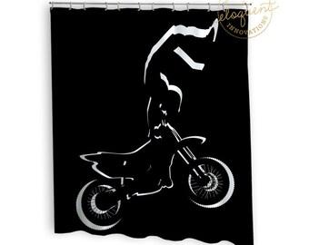 Dirt Bike Shower Curtain
