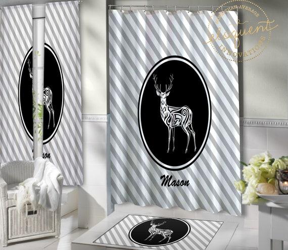 Whitetail Deer Shower Curtain Fabric Wildlife