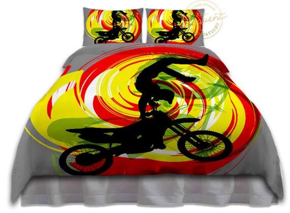 Housse De Couette Motocross Motocross Literie Motocross De Etsy