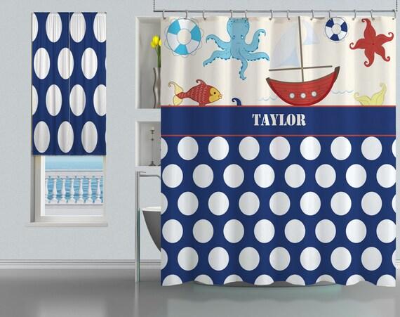 Shower Curtains Bath Home Monogrammed Curtain