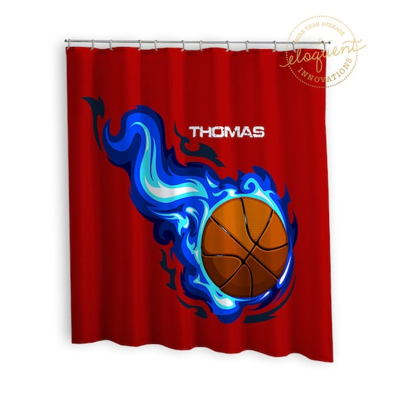 Sport Shower Curtains Red Blue Sports Curtain