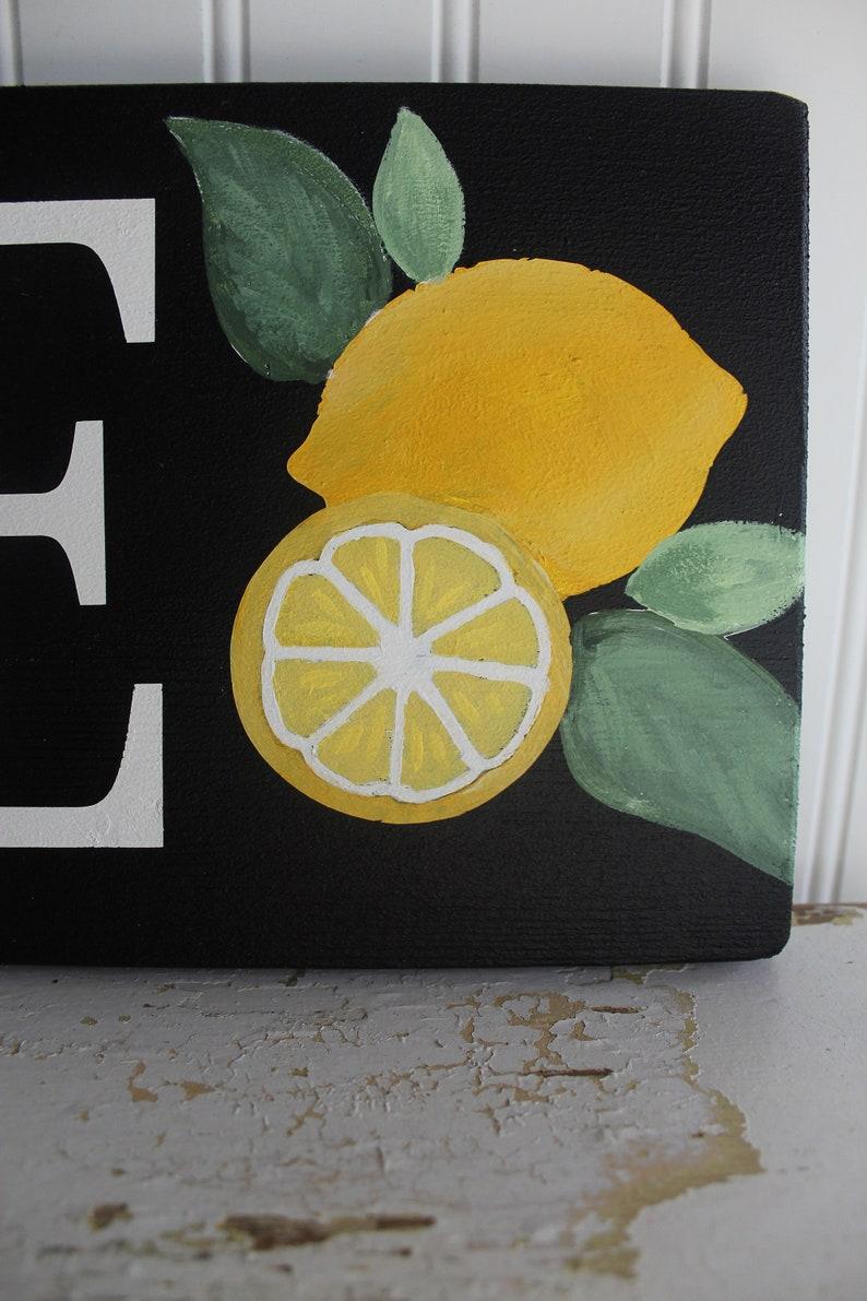 Lemonade Sign Ice Cold Lemonade Stand Sign Lemon Decor Summer Lemonade Stand Signs Farmhouse Lemonade Signs