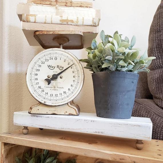 Round Riser Tray Plant Stand Candle Stand Primitive Decor Farmhouse Decor Centerpiece Wood Cake Stand Wood Riser Tray Round Tray