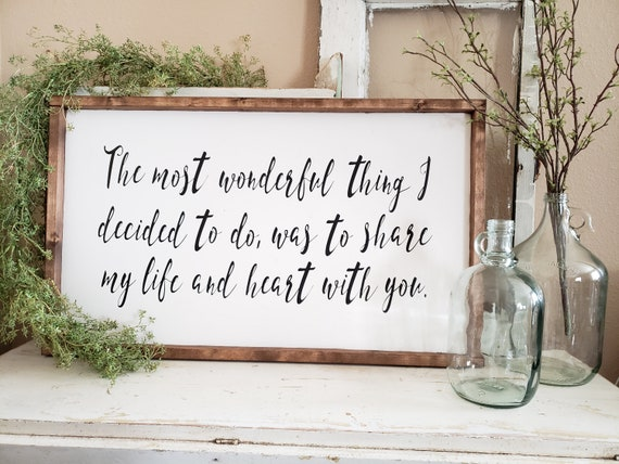 The Most Wonderful Thing Farmhouse Decor Farmhouse Signs Bedroom Decor Gallery Wall Decor Cottage Decor Framed Wood Signs