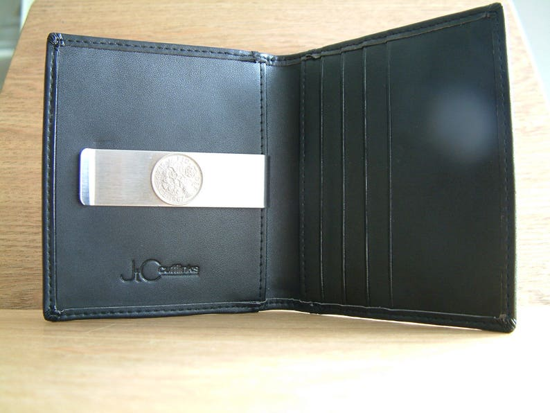 High Quality Faux Leather Slimline Money Clip Card Holder ID Oyster Wallet