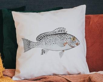 Fish cushion cover - pillow case - throw cushion - scatter cushion - fish decor - beach house decor