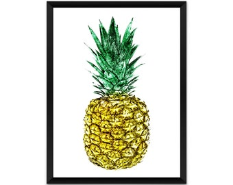 Pineapple wall art, picture, print, illustration, poster,wall decor, A4, A3