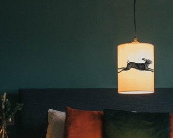 Leaping hare lamp shade/ ceiling shade - rabbit lamp shade - animal lamp - animal lighting