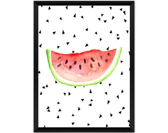 Watermelon wall art, picture, print, illustration, poster,wall decor, A4, A3