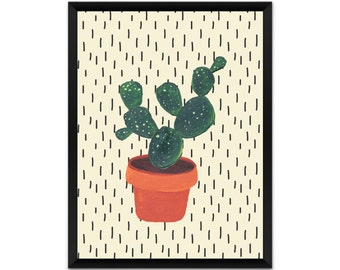 Cactus wall art, picture, print, illustration, poster,wall decor, A4, A3, geometric