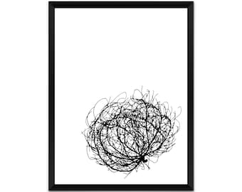 Tumbleweed, botanical wall art, picture, print, illustration, poster,wall decor, A4, A3