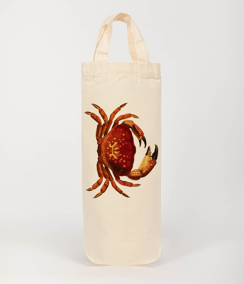 Nautical wine tote bottle bag gift bag