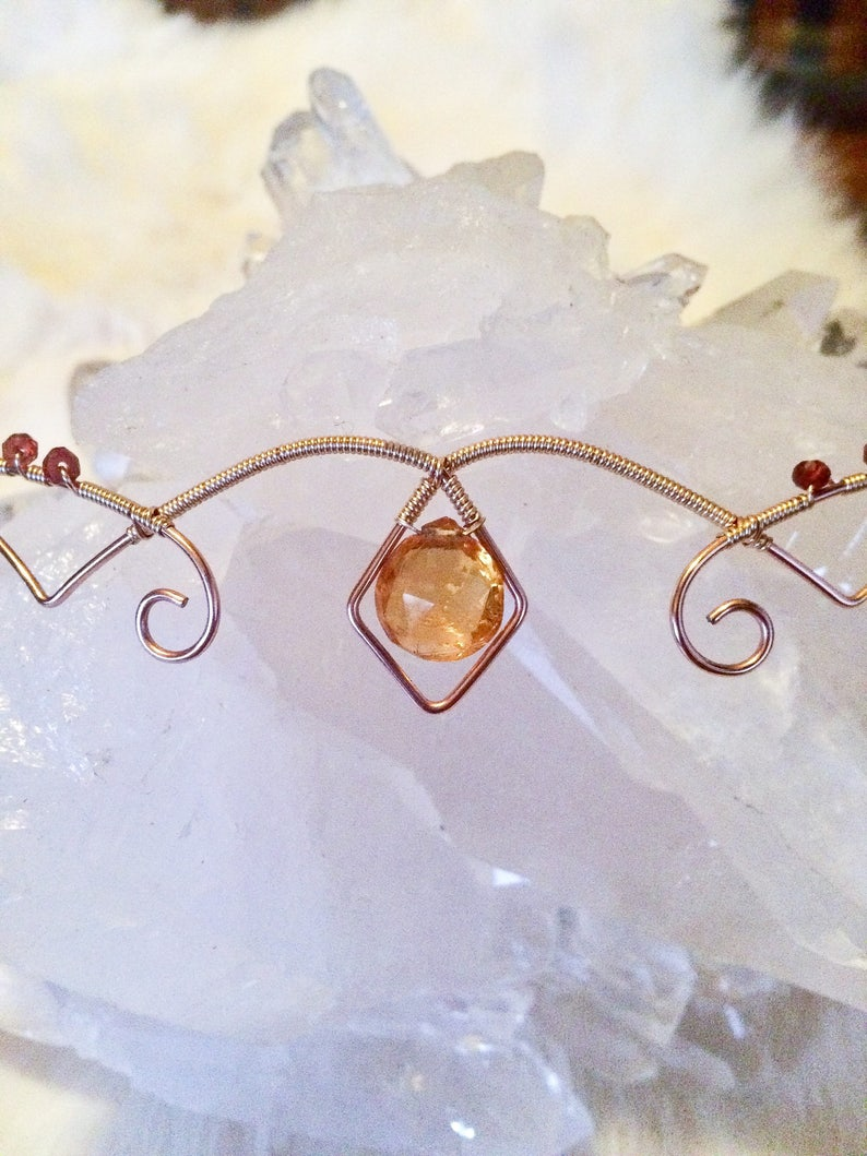 January Birthstone 14k Rose Gold Filled and 14k Gold Filled Crown Wearable Art Tiara November Birthstone Wire Wrapped Crown Woven Wire