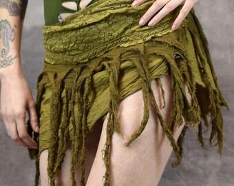 HIPPY TASSEL SKIRT Wrap Around Pixie Psytrance Festival Summer One Size: Regular