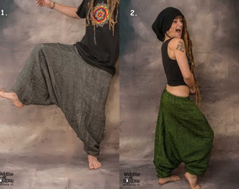 Fleece Lined Woolen Fairtrade Kashmir Ali Baba Trousers Psytrance Festival Hippy Warm Harem ***New Stock Now Available***