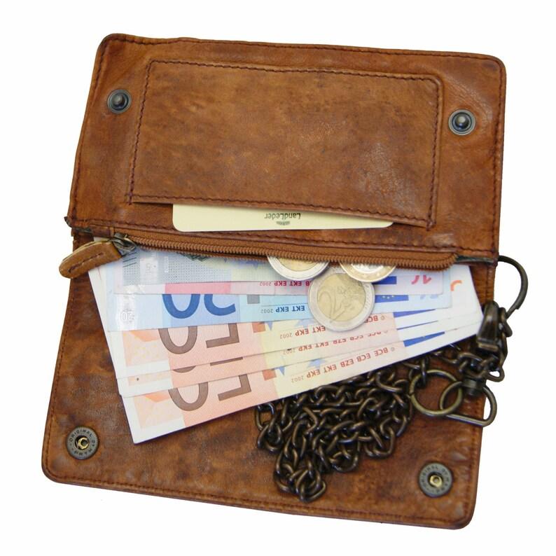 be1b48c55d58b Geldbörse Kettenbörse Portemonnaie CARNEGIE aus braunem