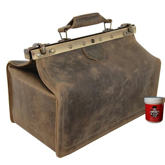 Doctors bag Mens Top Handle Bag PETTENKOFER antique-brown | Etsy