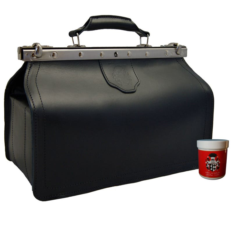 Doctor's bag BINGEN black leather  Made in Germany  image 0