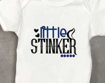 Funny Baby Bodysuit,Little Stinker Baby Boy Bodysuit, Skunk Baby Outfit, Stinker Bodysuit, Baby Boy Outfit, Baby Shower Gift, Skunk