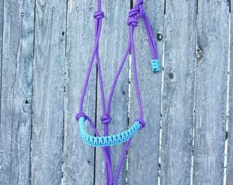 Custom Braided 2 Knot Rope Halter, Custom Horse Halter, Braided Noseband Halter, Horse Halter, Yacht Rope Halter, Clinician Halter