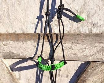 Custom Braided 4 Knot Rope Halter, Custom Horse Halter, Braided Noseband Halter, Yacht Rope Halter, Horse Halter, Clinician Halter