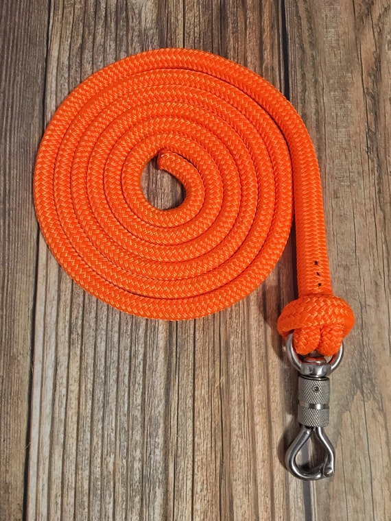 12/' ORANGE LEAD ROPE w// PARELLI SNAP FOR NATURAL HORSE TRAINING